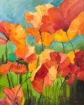 Kwiaty, olej, płótno, 81x101 2016