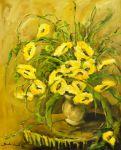 Żółte kwiaty, olej, płótno, 80x100 2015